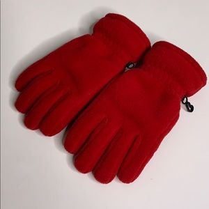 Lands End Insulated Rubber Grip Red Gloves Large